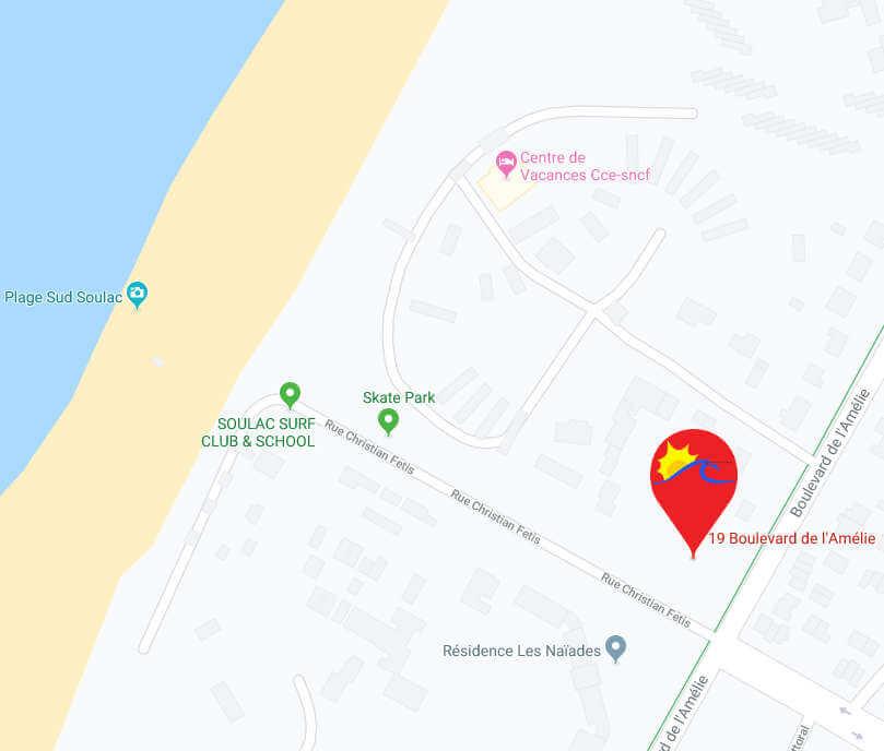 Carte localisation du centre - Centre de Séjour Soulac sur Mer