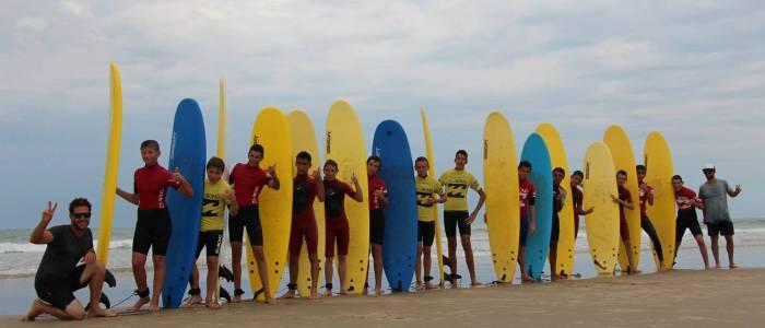 Une session Surf qui se termine dans la joie